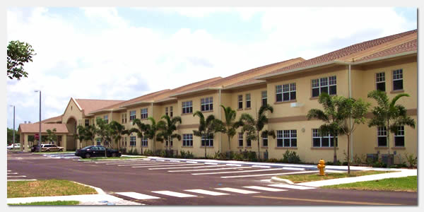 HUD Section 202 elderly housing and goverment grants community development at St. Boniface Gardens in Miami Florida.