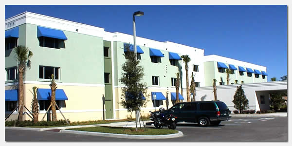 HUD Section 202 elderly housing and goverment grants community development at St. Joseph Garden Apartments in Orlando Florida.