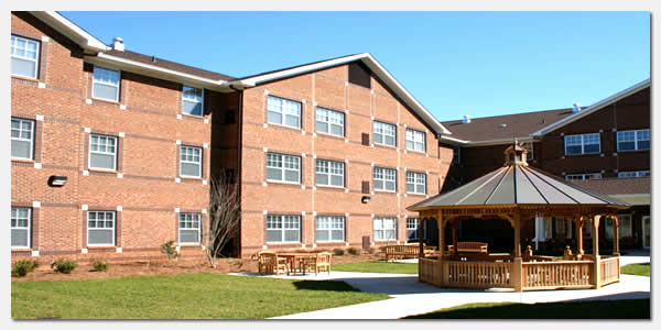 HUD Section 202 elderly housing and Salvation Army community development at Catherina Booth Garden Apartments in Gastonia NC.