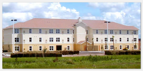 HUD Section 202 elderly housing and goverment grants community development at Woodward Manor in Lehigh Acres Florida.